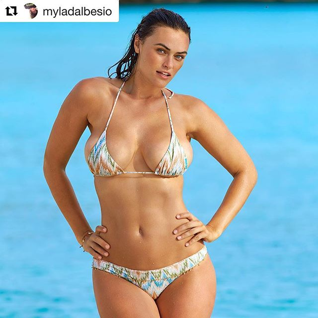 "#Repost @myladalbesio with @get_repost ・・・ I wrote an essay for Sports Illustrated on reconciling my feminism with being a swimsuit model. . .  It was completed before the election, but feels even more relevant to me now. In the current climate we need to fight to continue to do what we love and be who we love, and not be shamed into backing down. . . . ""It's hard to hear someone say that I am being objectified by participating in things like the Swimsuit issue. It feels insulting, implying that I am somehow being taken advantage of, that I am not empowered in my own decisions. In fact, it is quite the opposite. . . I embrace my body and celebrate it, and for me that is what this issue represents. When I strip down and roll around in the sand, I'm not doing it for men, I'm doing it for me. I'm doing it because I worked for a decade to get here, went through countless trials and tribulations over my body image, and now I am proud to represent women my size. I am proud to show that you can be strong, smart, and sexy. I am proud to defy outdated and incorrect expectations of what feminists look and act like.  I can be serious about women's rights and flaunt my curves in a swimsuit (or out of one) at the same time. I hope that by doing so, I can help other women that look like me (and even those that don't) begin to appreciate and love their bodies more. And I want women to know that feminism, as defined by the dictionary, means ""the belief that men and women should have equal opportunities"". That's it. It does not dictate the type of person you are, what you are allowed to do or say or wear, or what magazine you decide to show your ass in."" . .  #siswimsuit2017 #realwomen #feministasfuck #notbackingdown #focusforward  #metoo  #strongertogether #bodycon #strongissexy #bodypositive"