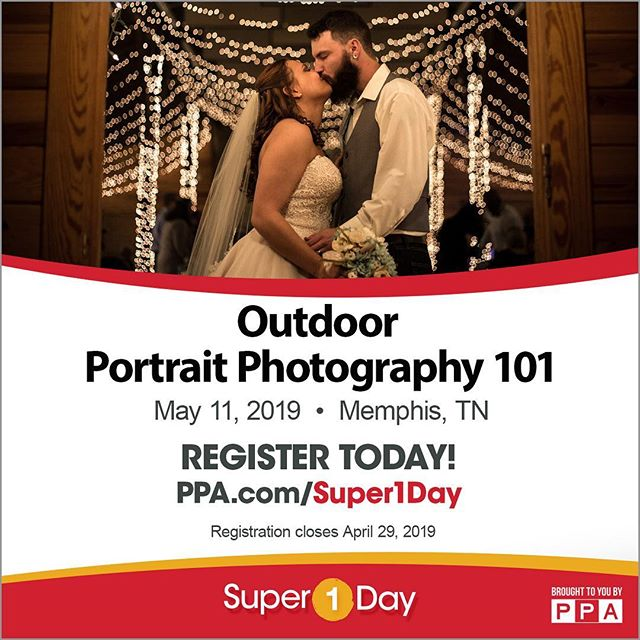 Outdoor Portrait Photography 101 class on May 11, 2019.  Check out speaker portfolio at: www.instagram.com/shootmedash  Registration closes on April 29, 2019  Register here: https://www.ppa.com/events/outdoor-portrait-photography-101-5-11-2019?  #shootmedash #portraitphotography #memphis #901 @ourppa #super1day #ppaedu