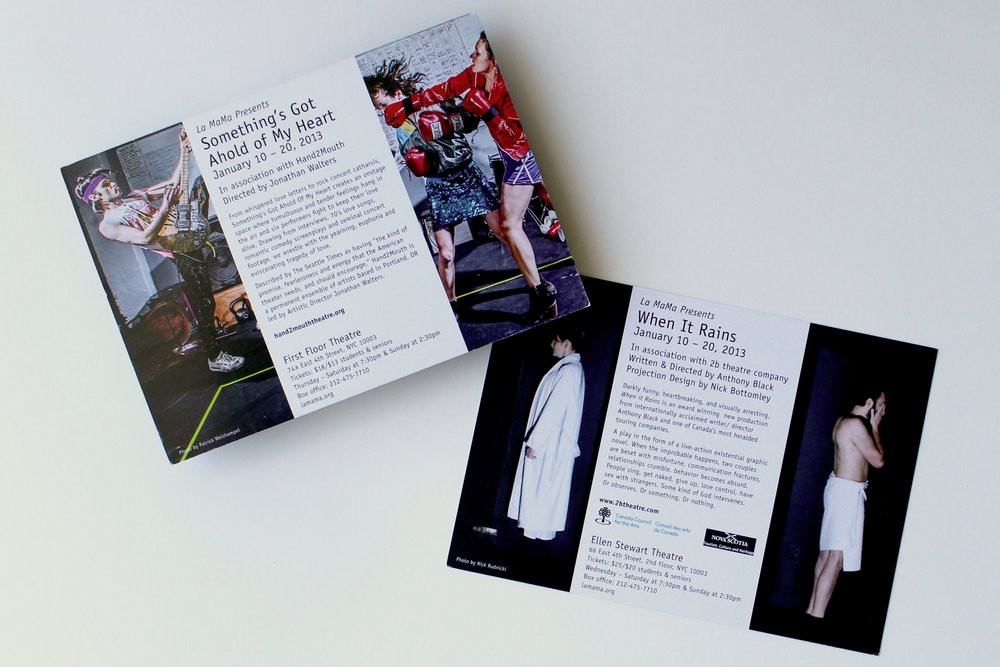 Double-sided postcard