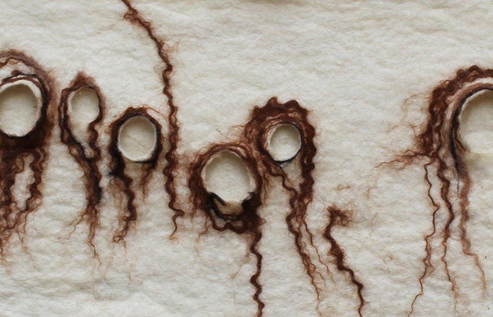 The Spirits - May 2018, Merino wool, alpaca detail