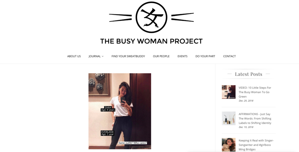 Collaborations - The Busy Woman Project: Sustainability x Fitness