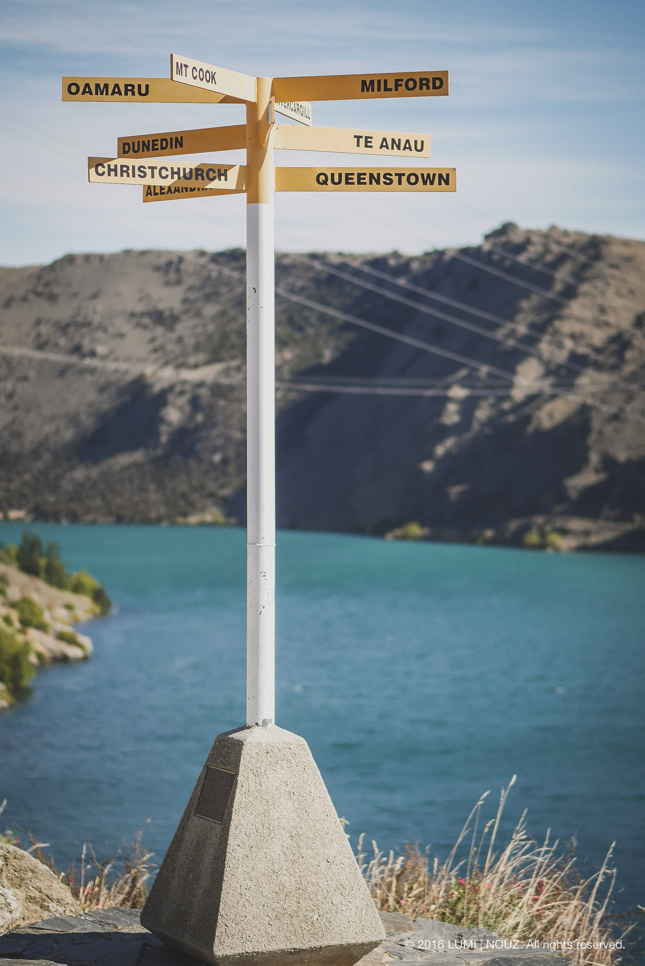 signpost, South Island, New Zealand