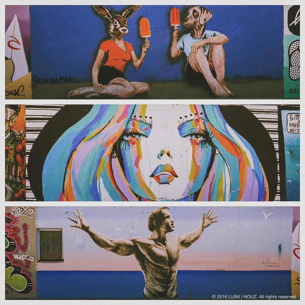 Graffiti Wall, Bondi Beach, Sydney, Australia