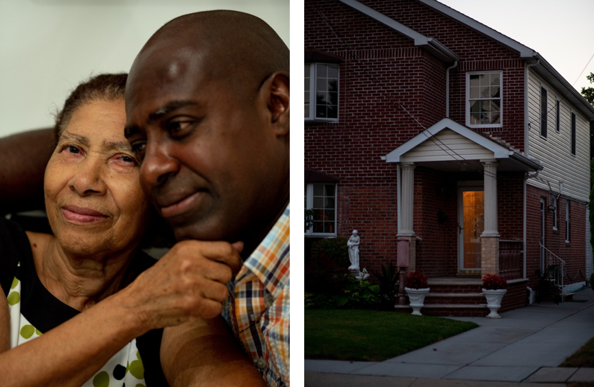 Left/Top: Danny Michel and his mother, Jeanne Ernante. Right/Bottom: The Michel family home. Photos: Ariel Zambelich/The Intercept