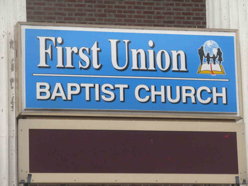 First Union Baptist Church has been a community mainstay at 2064 Grand Concourse since 1977. It was founded in 1915.