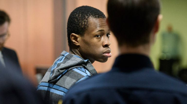 Chanel Lewis, seen in 2017, was charged with murder in the 2016strangulation death of Howard Beach jogger Karina Vetrano, 30. After a mistrial last November, selection will begin March 12 for another jury in Lewis' case. Photo Credit: Pool/Charles Eckert