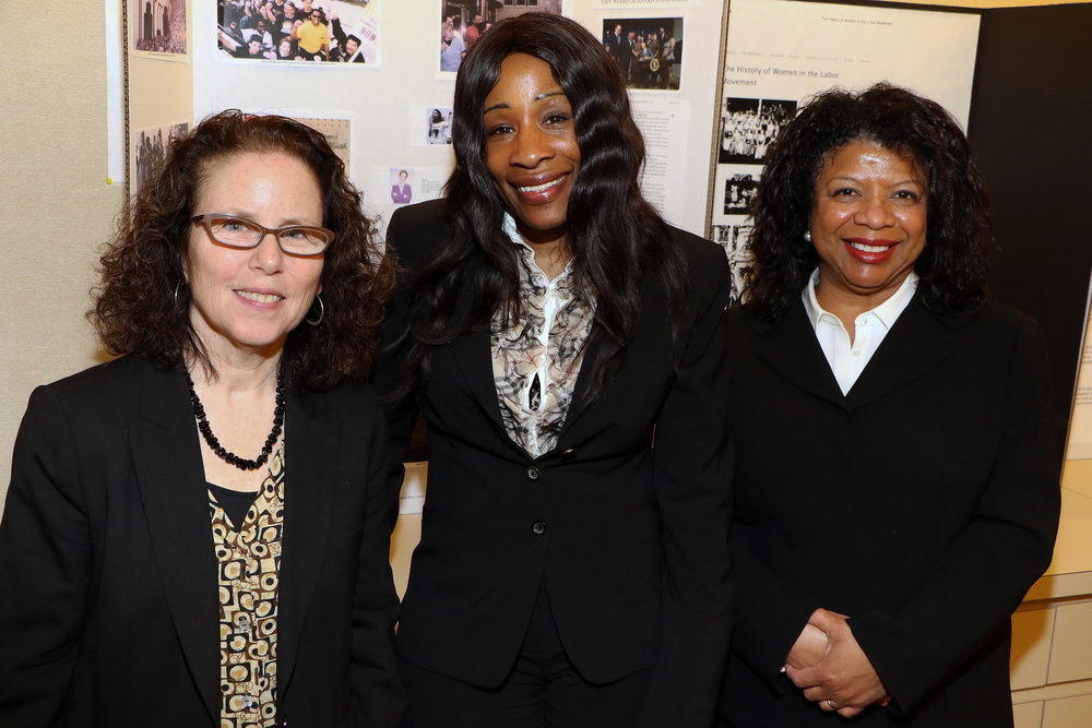 Janet Sabel, Attorney-in-Chief and CEO; Dreana Bellamy, 1199 Organizer; and Marlen Bodden, Staff Attorney in the Special Litigation Unit of CDP, were the main speakers in the celebration of Women's History at The Legal Aid Society.