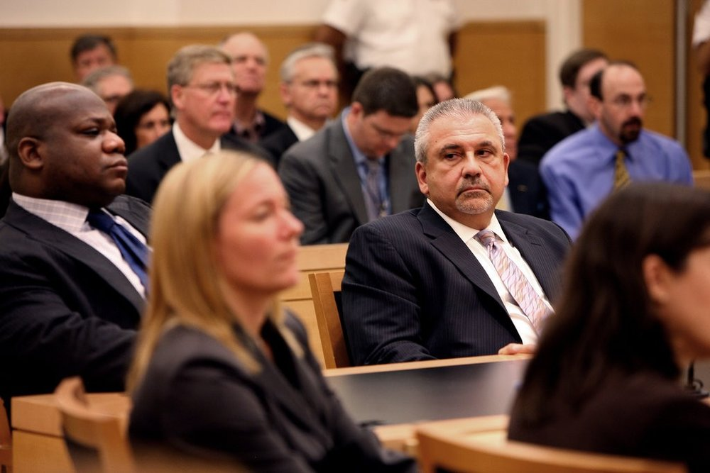 Michael F. Vecchione, a former Brooklyn assistant district attorney, resigned after his longtime boss lost a bid for re-election.CreditCreditPool photo by Jesse Ward