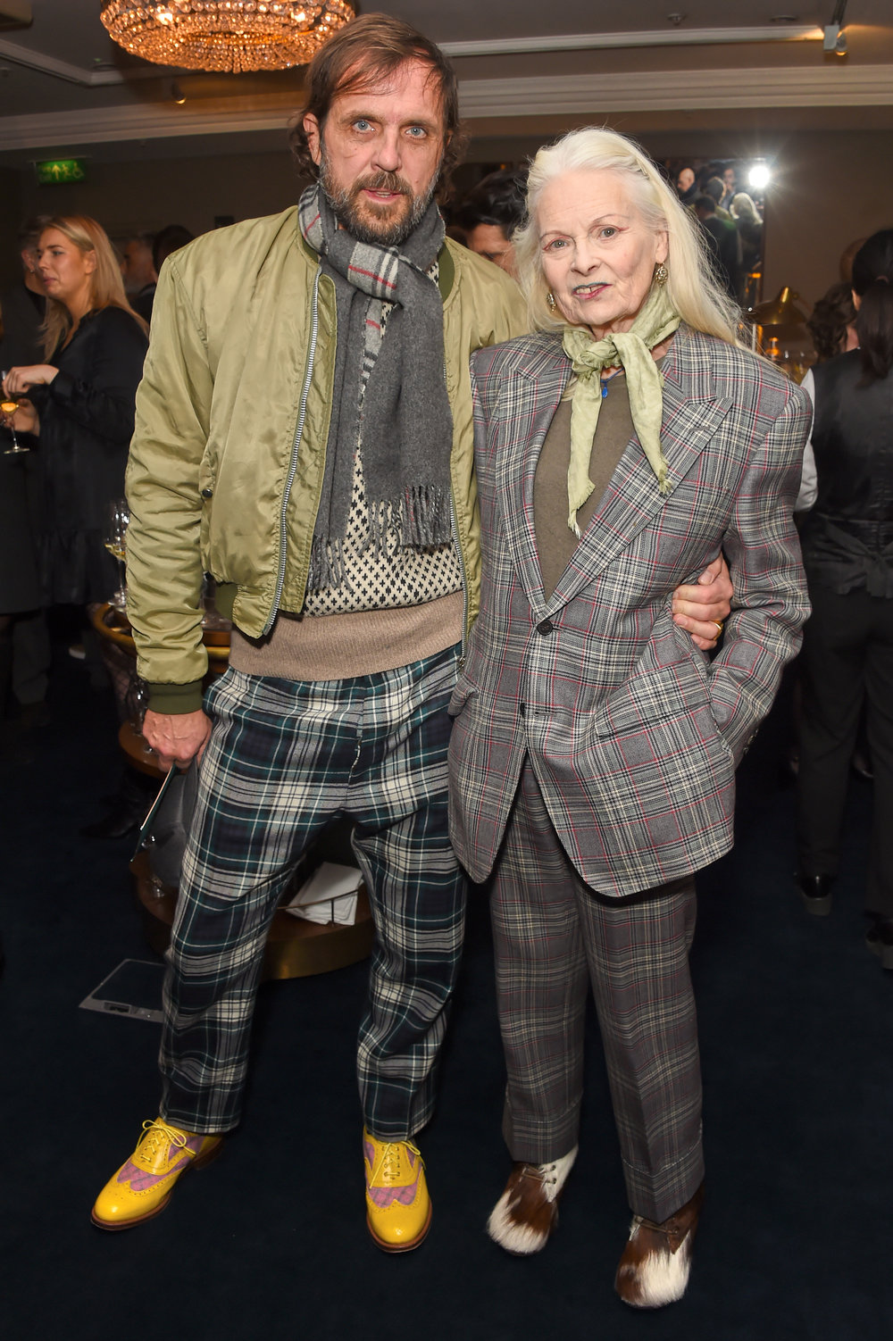 Dame Vivienne Westwood and Andreas Kronthaler. Courtesy of Dave Benett.