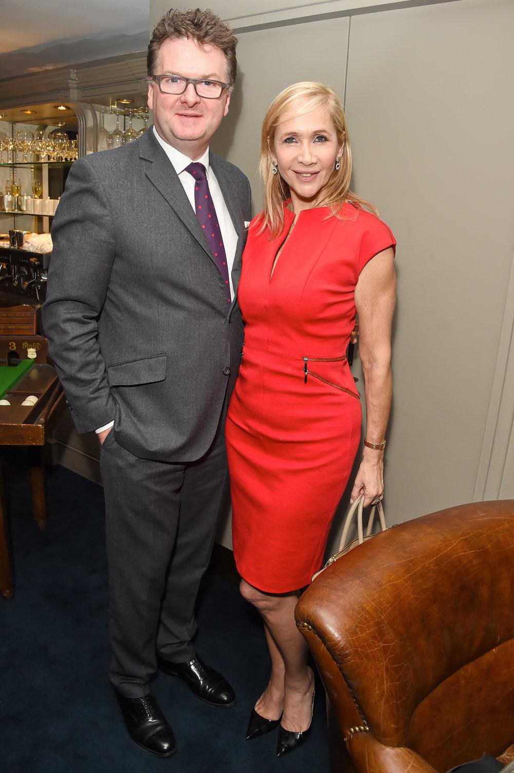 Ewan Venter and Tania Bryer. Courtesy of Dave Benett.