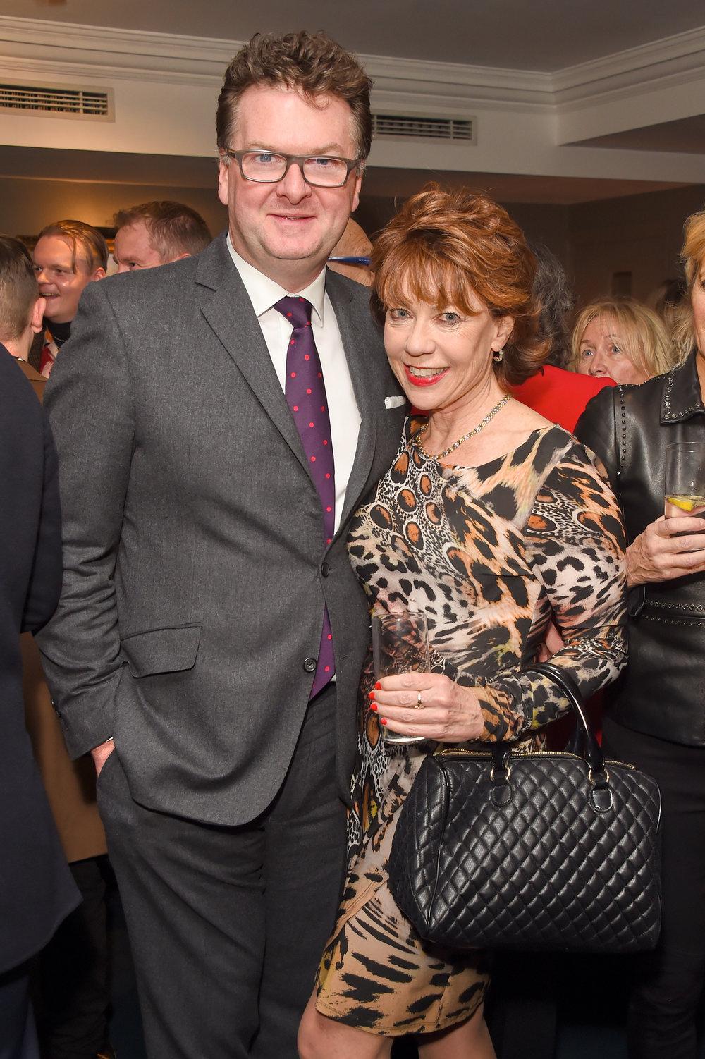 Ewan Venter and Kathy Lette. Courtesy of Dave Benett.