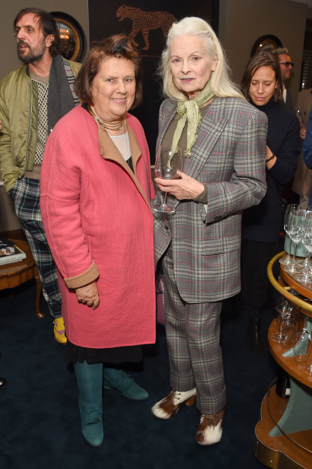 Suzy Menkes and Dame Vivienne Westood. Courtesy of Dave Benett.