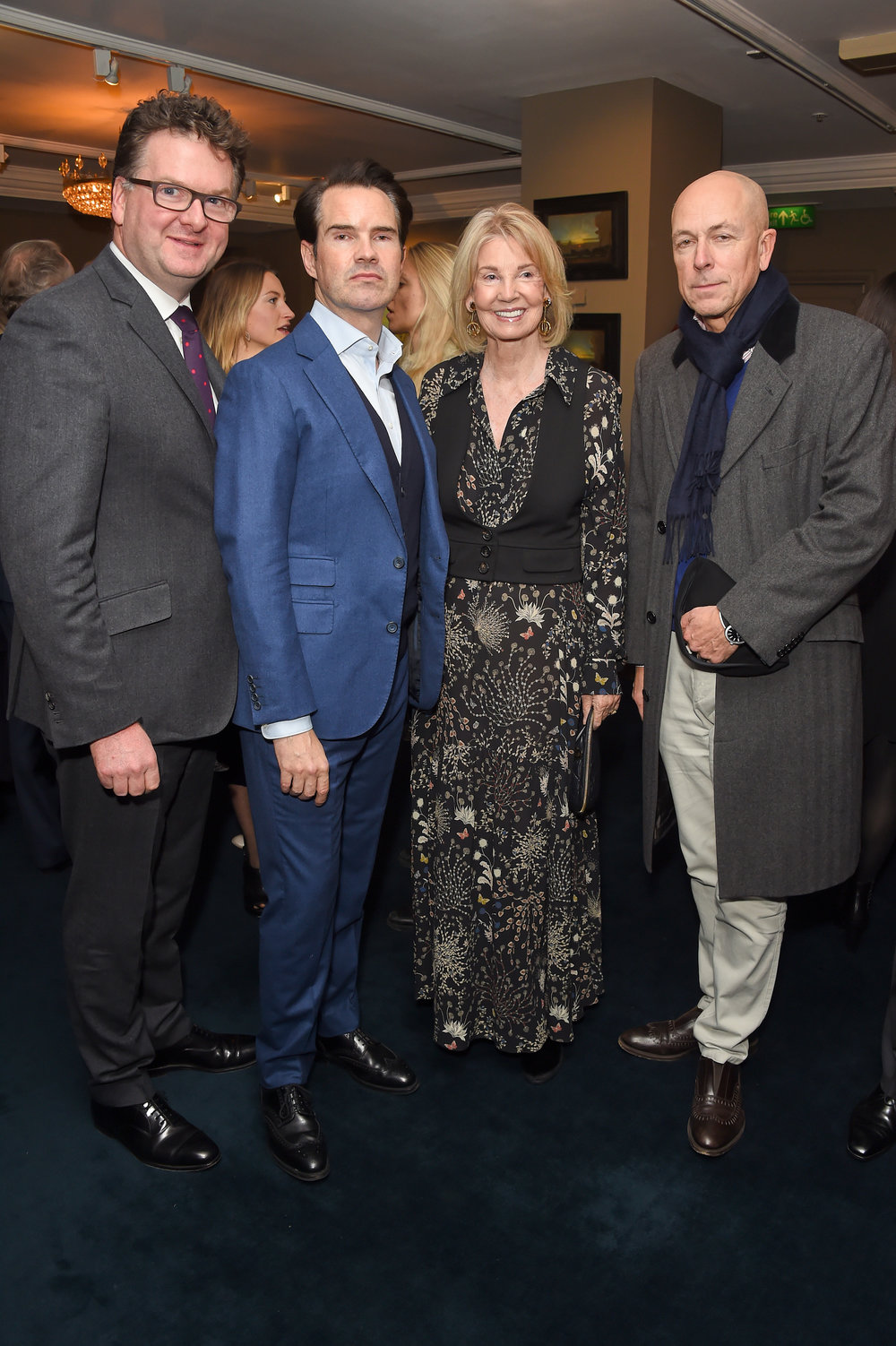 Ewan Venters, Jimmy Carr, Hilary Weston and Dylan Jones. Courtesy of Dave Benett.