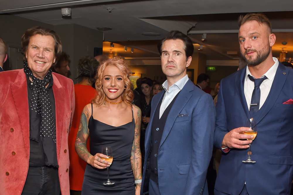 Theo Fennell, Mollie Taylor and Jimmy Carr. Courtesy of Dave Benett.