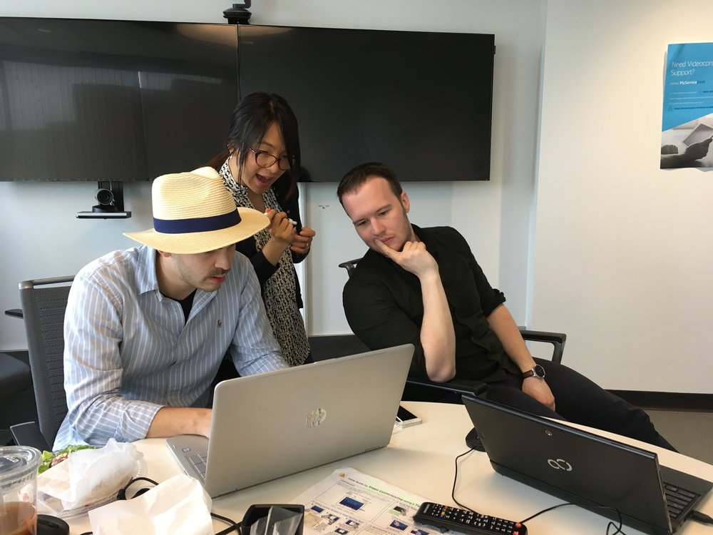 Angel Hackathon Team hard at work