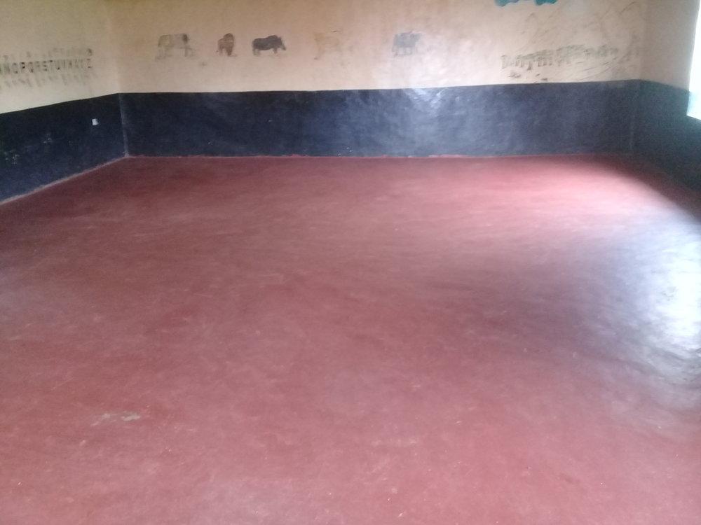 Hall floor painted by Diane Priestley