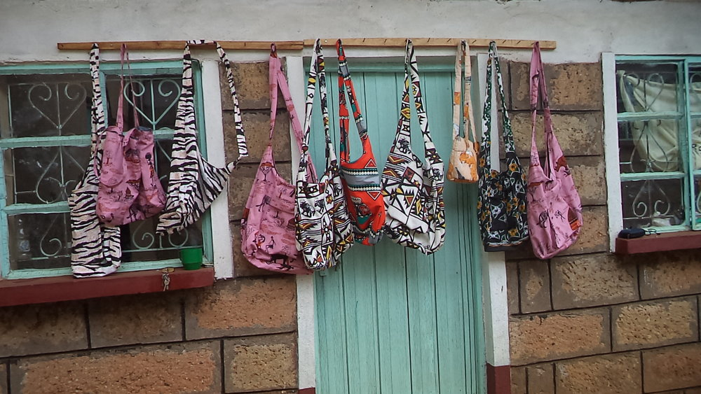 Bags made at Faraja