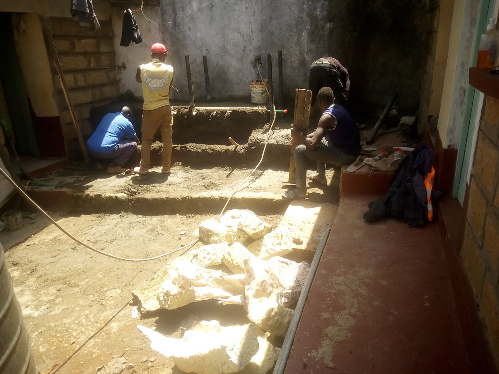 Gichuru and the team working