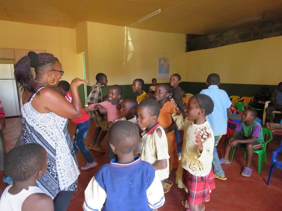 Kids dancing.