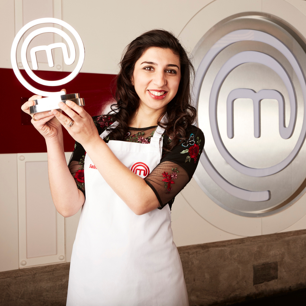 MasterChef UK 2017 Champion - After facing off competition from 63 other determined contestants, through seven gruelling weeks of culinary challenges and an exhilarating final cook-off, I became the thirteenth amateur cook to lift the MasterChef trophy.In a punishing final week, I cooked for the American Ambassador under one of Britain's best chef's, Paul Ainsworth. I embarked on a culinary adventure to South Africa and took on three exceptional challenges - firstly mentored by one of South Africa's most celebrated Reuben Riffel, then under British-born Luke Dale Roberts at the world-renowned The Test Kitchen cooking for leading figures in Cape Town's cultural and food community. In the penultimate programme, I cooked for The Chef's Table, overseen by one of the country's most creative chefs, the two-Michelin starred, Sat Baines.The final task was to prepare a three-course meal for judges John Torode and Gregg Wallace.  My winning menu started with a venison shami kebab with cashew and coriander green chutney, chana daal and a kachumbar salad – in memory of her grandmother's house in Pakistan. The main course was a Kashmiri style sous-vide duck breast, with crispy duck skin, freekeh wheatgrain, spiced with dried barberries, walnuts and coriander, a cherry chutney and a duck and cherry sauce. The final dish in my menu was a Saffron rosewater and cardamom panna cotta, served with a deconstructed baklava (inspired by my childhood love of baklava), including candied pistachios, pistachio honeycomb, filo pastry shards and kumquats.