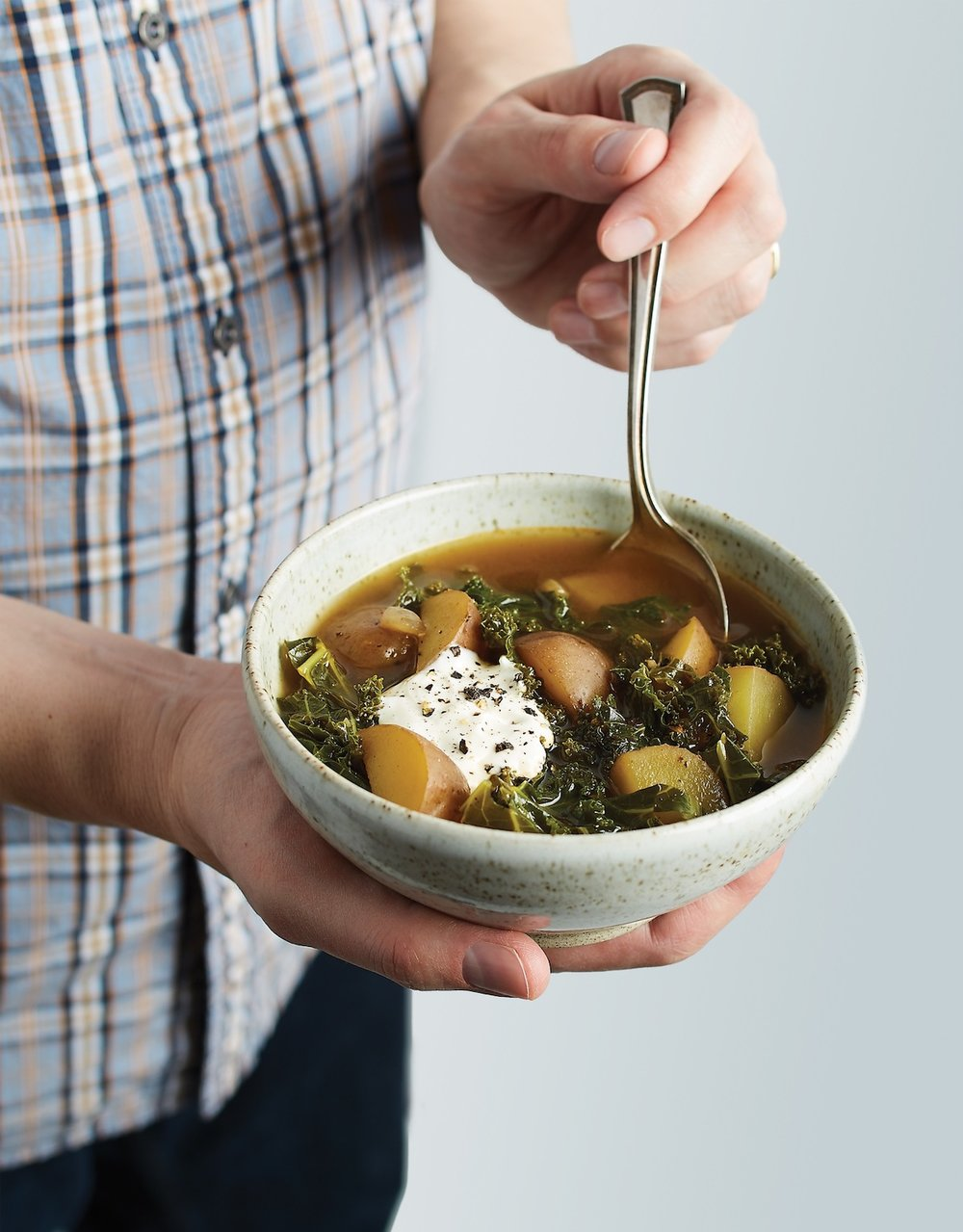 Recipe from the book: Smoky Potato & Kale Soup  -