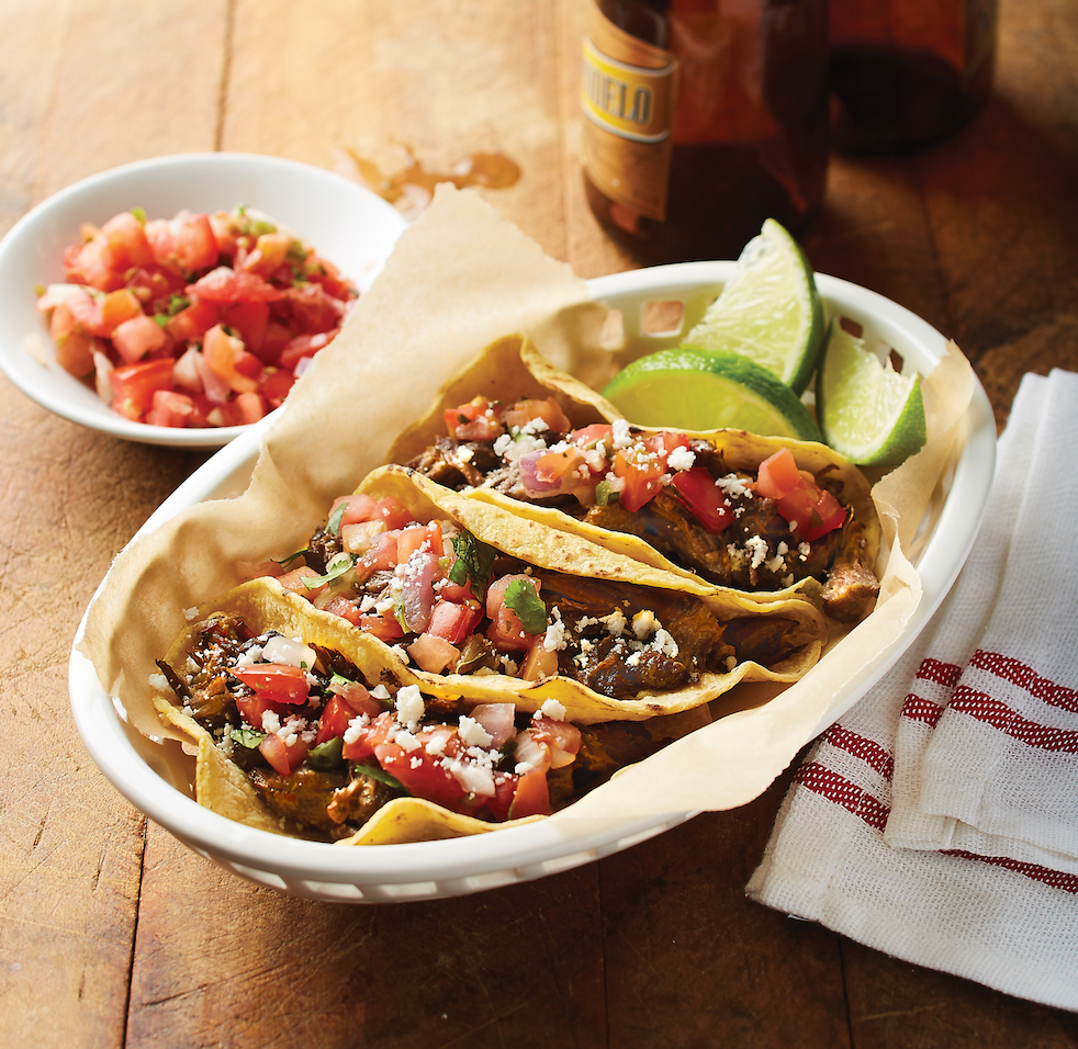 Recipe from the book:Beef Barbacoa Tacos -
