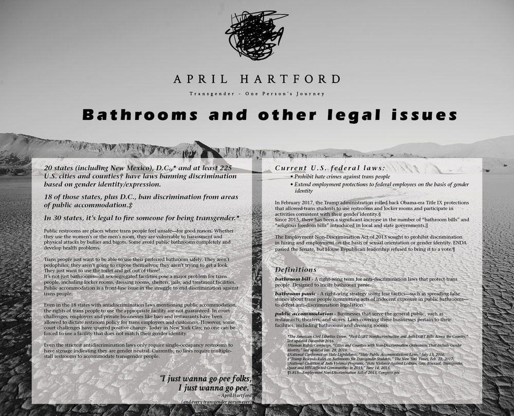 Bathrooms and Other Legal Issues