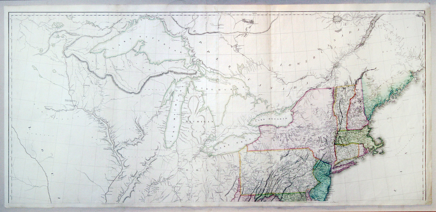 North America Map 1750.Arrowsmith Aaron Sr 1750 1823 A Map Of The United States Of