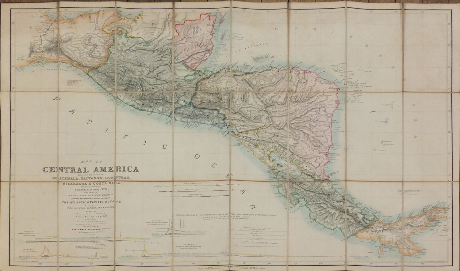 Mexico Map 1850.Baily John Fl 1811 1850 Map Of Central America London