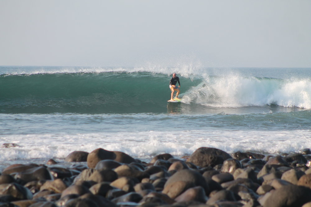 me at Punta Roca, El Salvador. photo by: Punta Roca Surf Club.