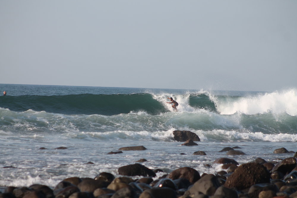elduboue at Punta Roca, El Salvador. photo by: Punta Roca Surf Club.