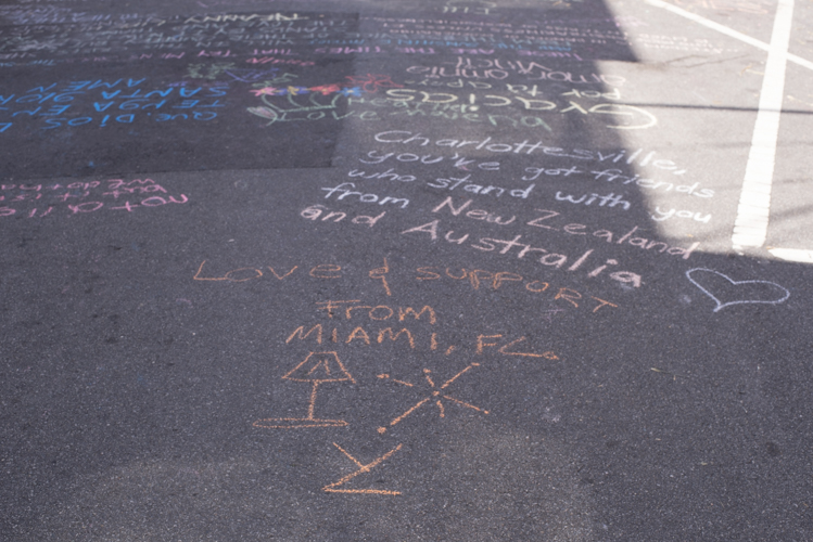 Fear and hesitation almost had me miss out on an amazing opportunity to connect with people and most importantly to contribute, although it may not be much, I was moved by the people from New Zealand and Australia, and I realized that even though it is just some chalk on the floors, the message moves people to communicate and unite, forever grateful for that...