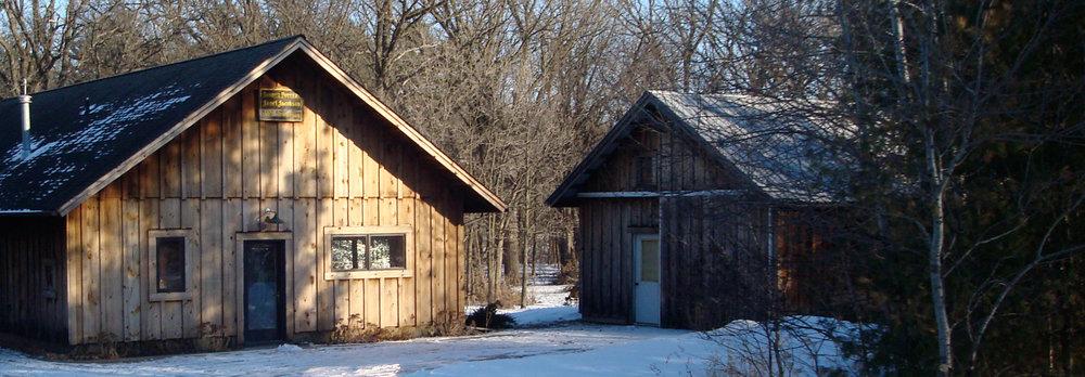 Sunrise Pottery Studio in Winter