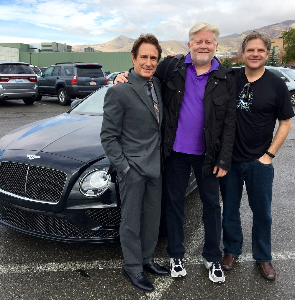 John Shea, McKay Daines and Richard Paul Evans meeting on Michael Vey production