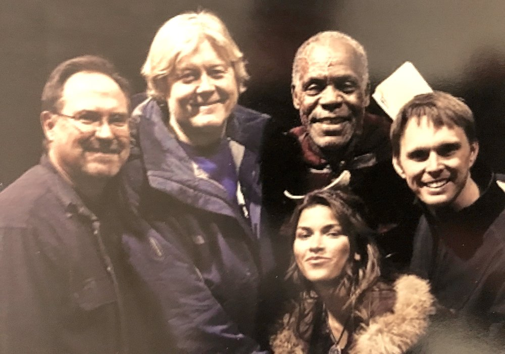 Steven A. Lee, McKay Daines, Danny Glover, Sofia Pernas and Ryan Little on the set of Age of the Dragons