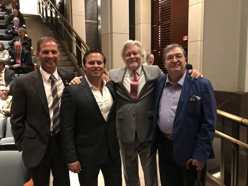 True Iran Premiere in Washington, DC at the National Capital Theater with Congressman Chris Stewart, Navy Seal Medal of Honor Recipient Ed Byers, McKay Daines and his Westie Films Partner, Ron Maxwell