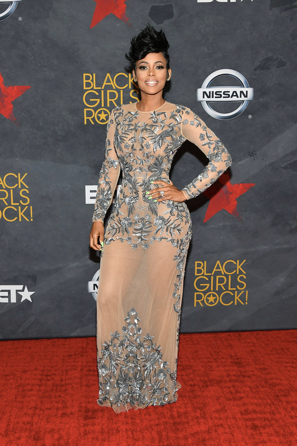 (via: VH1)    Keyshia Ka'oir was all glammed up this year in a sheer embellished nude gown.