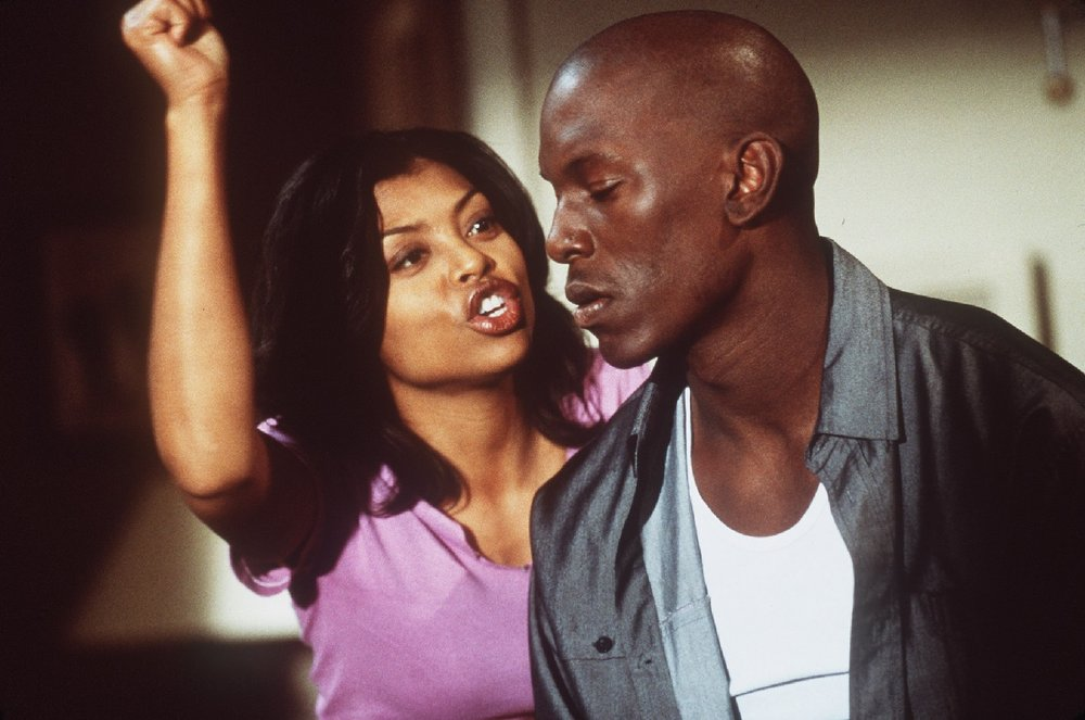 Taraji P. Henson and Tyrese Gibson in Baby Boy.