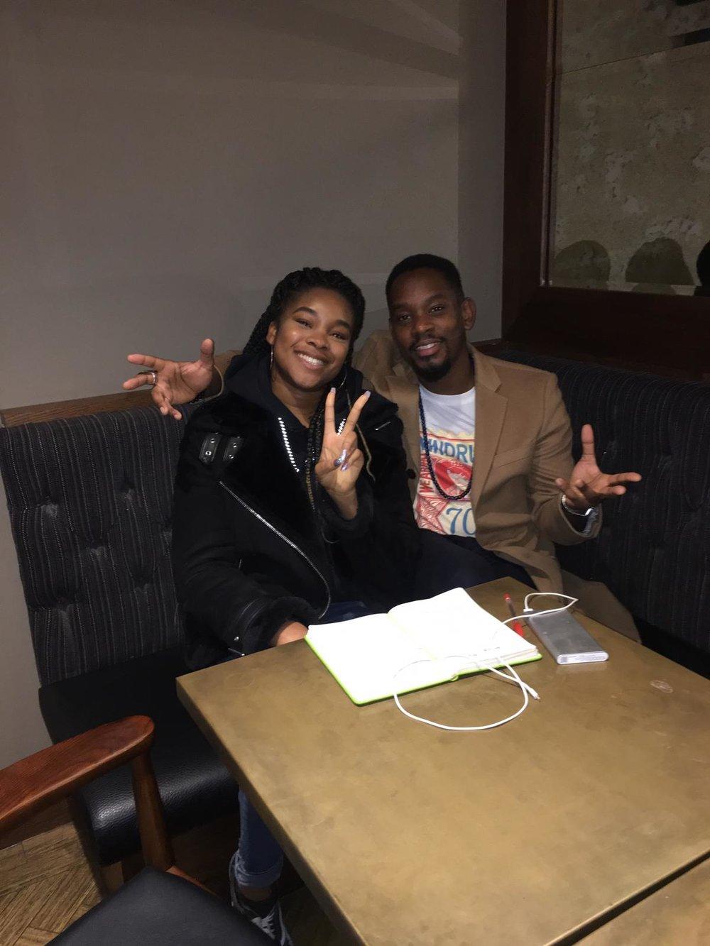 Blacpire's Mayo Egbo sitting with Aml