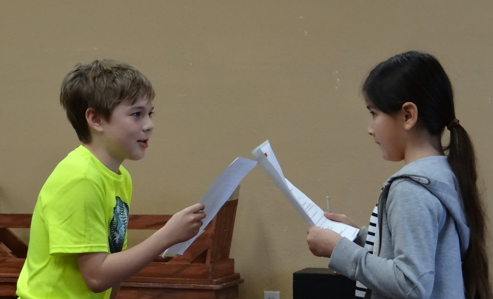 script work and acting intentionally with a partner
