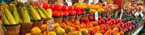 farmers market fruits & veggies