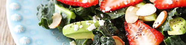 Kale-Strawberry-Avocado-Salad courtesy of www.twopeasandtheirpod.com