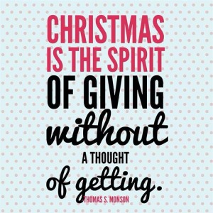 6 - the spirit of giving