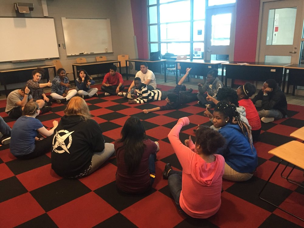 Workshops with Bennett High School, Saulisbury MD