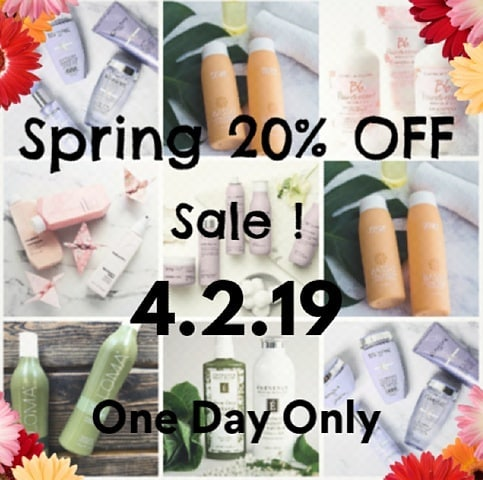 Mark your calendars!  20% off all products starts on 4.2.19  Be sure to take advantage of this deal !