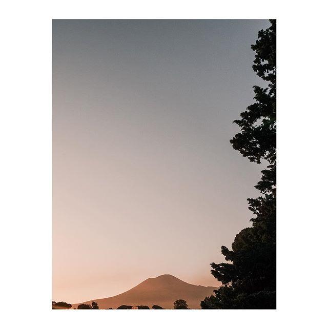 Sunset over Mount Vesuvius