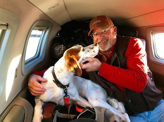 Vato's first plane ride. . . . . #hunting #huntingseason #pheasant #upland #uplandhunting #birddog #pointersofinstagram #pheasanthunting #wepursuit #ktdiaries