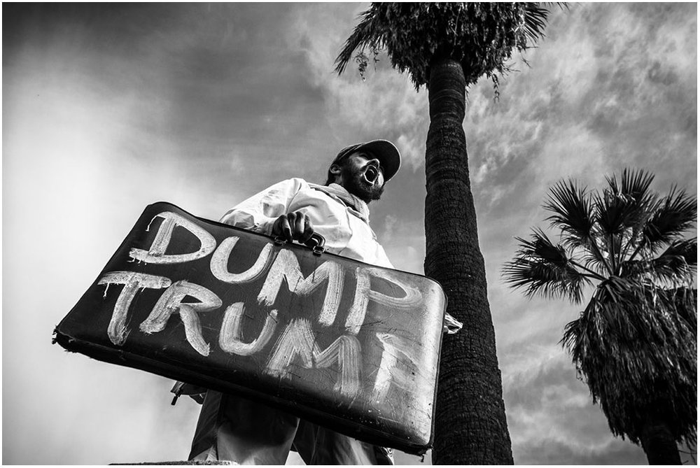 """United Against Trump & Hate"" March MacArthur Park to City Hall Los Angeles, California 12th November 2016"