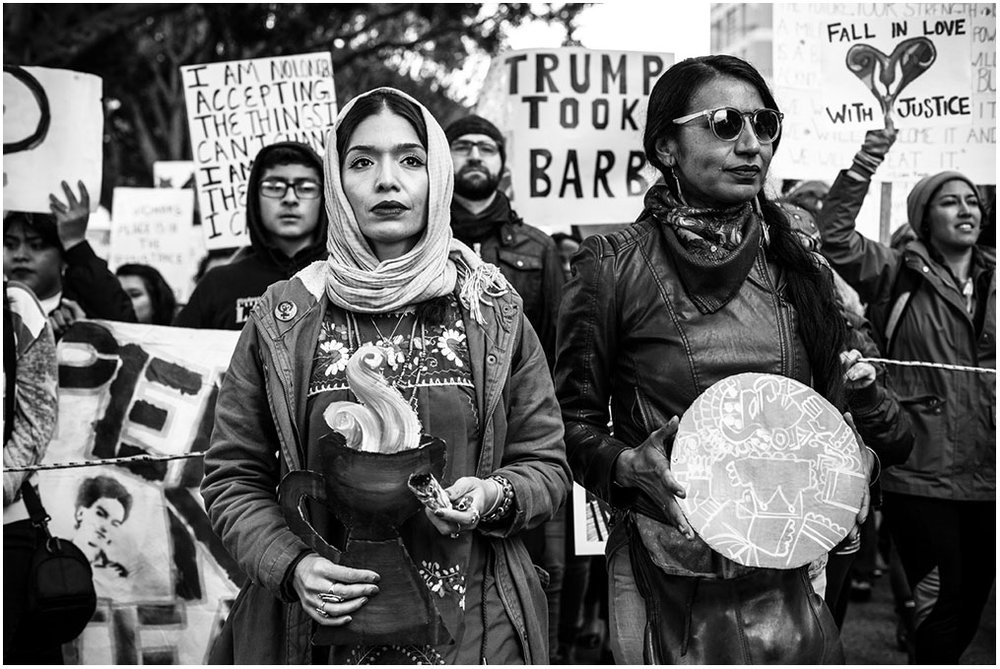 """International Women's Day Protest"" Around DTLA Los Angeles, California 5th March 2017"