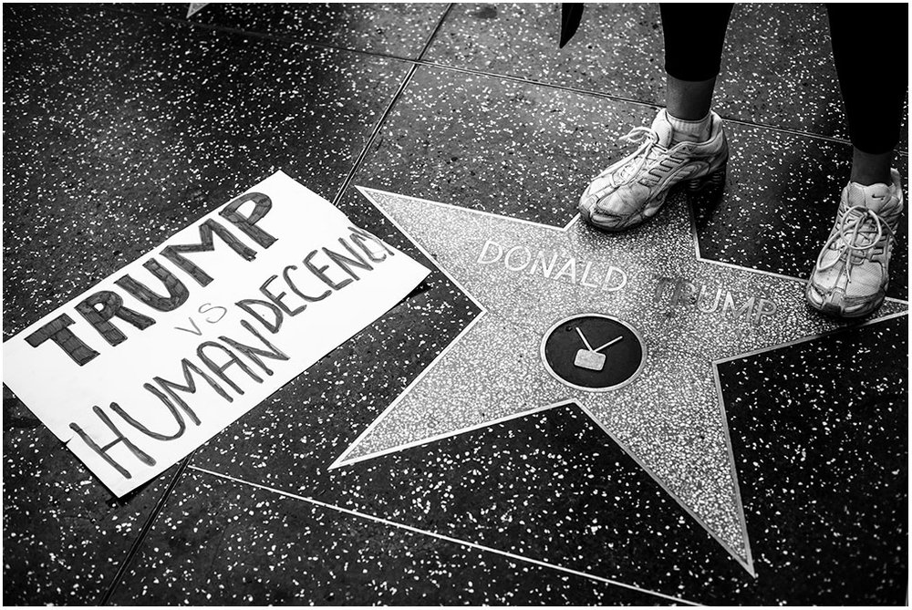 """Women & Allies Nationwide Strike Out & Protest"" Around Hollywood Los Angeles, California 12th December 2016"
